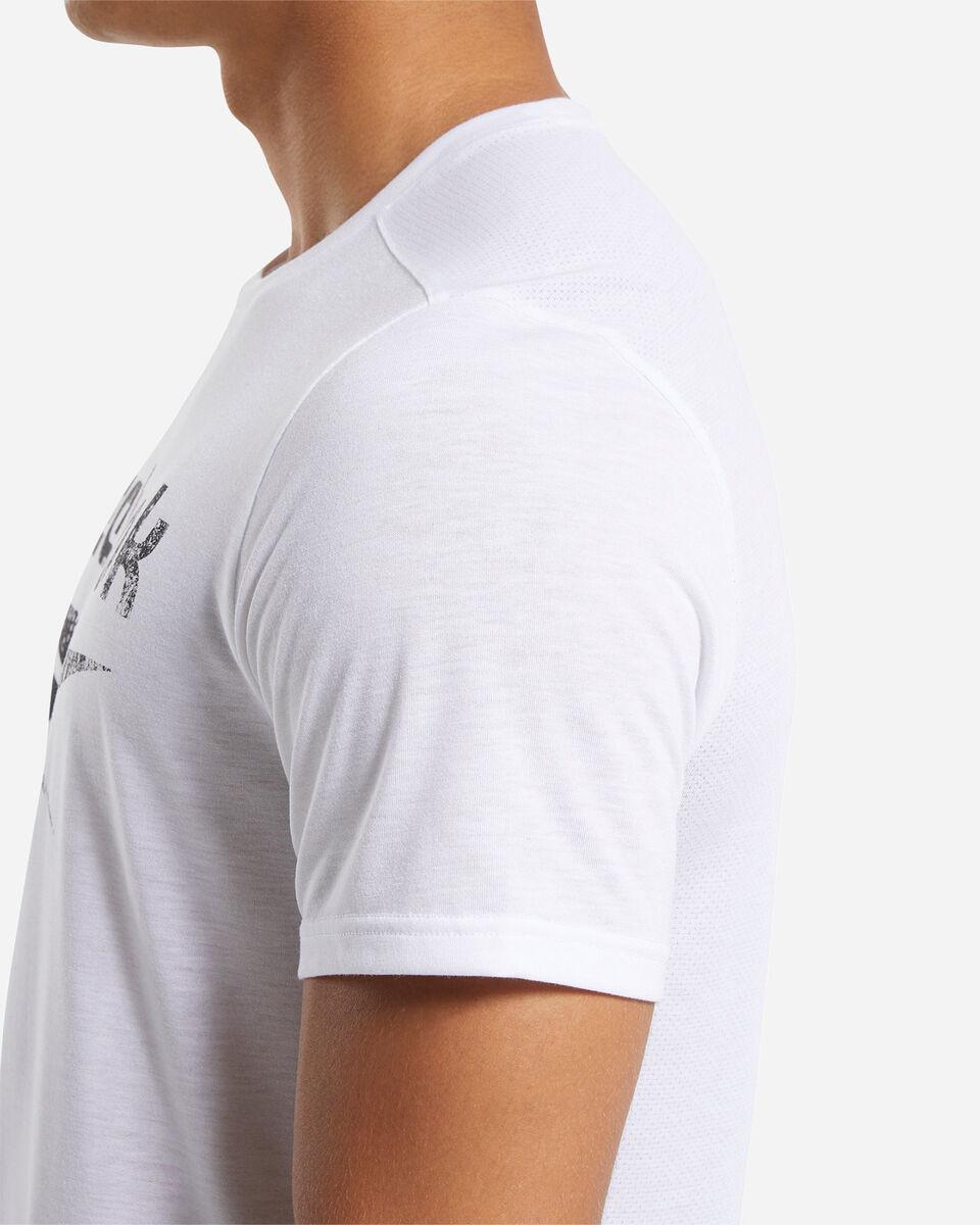 T-Shirt training REEBOK ACTRON LOGO M S5219457 scatto 5