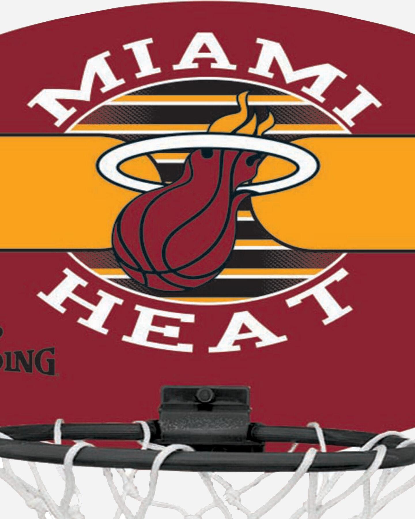 Canestro tabellone basket SPALDING NBA MINIBOARD MIAMI HEAT S1317875|9999|UNI scatto 3