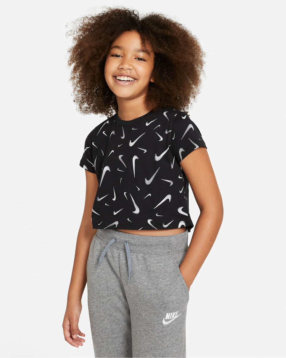 T-Shirt NIKE CROP SWOOSH JR S5270246 scatto 0