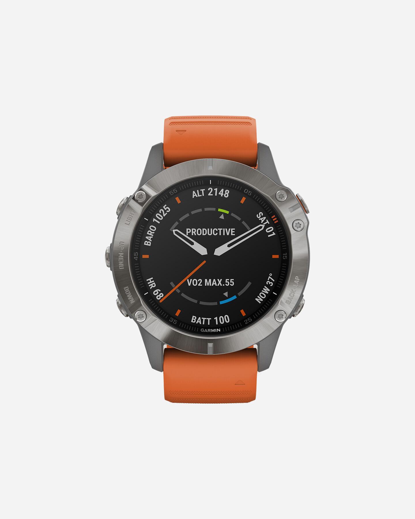 Orologio multifunzione GARMIN FENIX 6 SAPPHIRE TITANIUM S4076557|14|UNI scatto 0