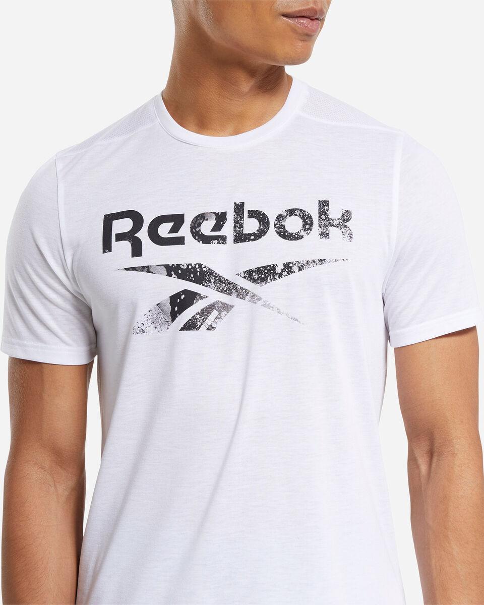 T-Shirt training REEBOK ACTRON LOGO M S5219457 scatto 4