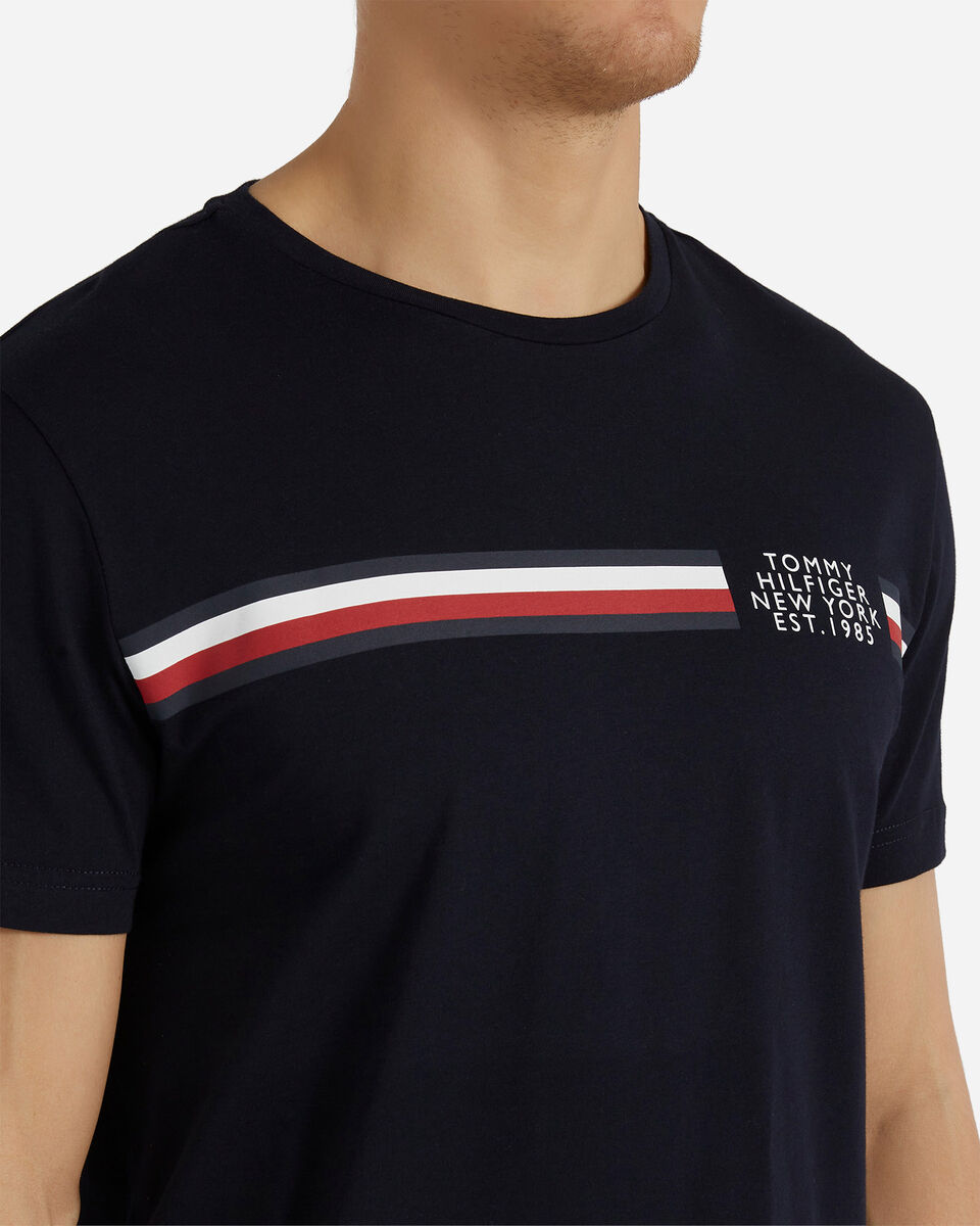 T-Shirt TOMMY HILFIGER CORP SPLIT M S4089501 scatto 4