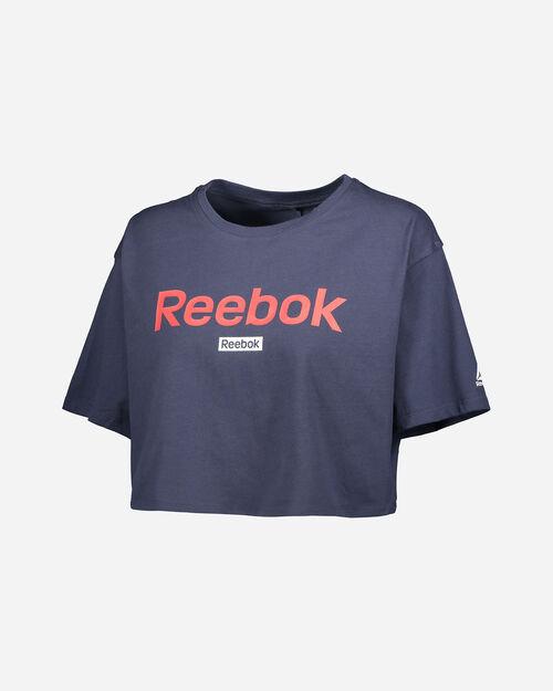 T-Shirt training REEBOK TRAINING ESSENTIALS LINEAR LOGO CROP W