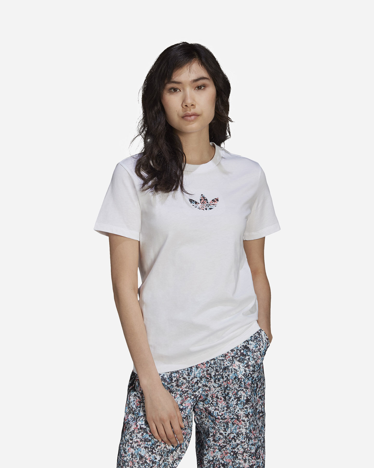 T-Shirt ADIDAS FLOWER W S5271153 scatto 1