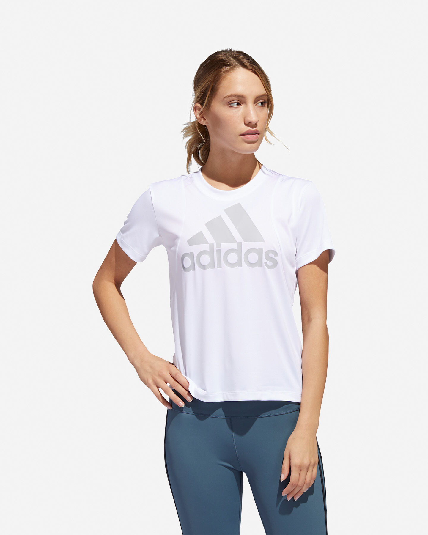 T-Shirt training ADIDAS BIG LOGO W S5216580 scatto 2