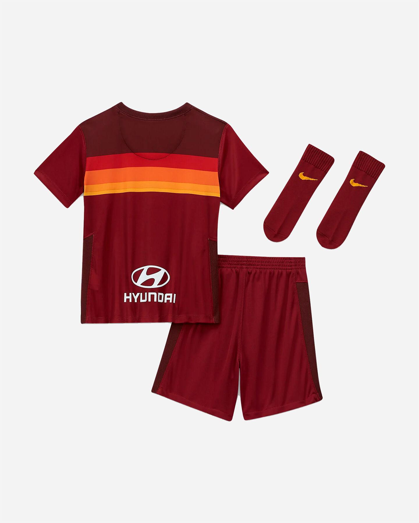 Abbigliamento calcio NIKE KIT ROMA HOME 20-21 JR S5195489 scatto 1