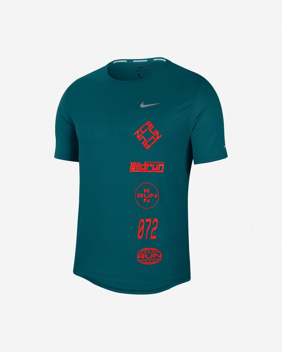 T-Shirt running NIKE MILER WILD RUN M S5225613 scatto 0