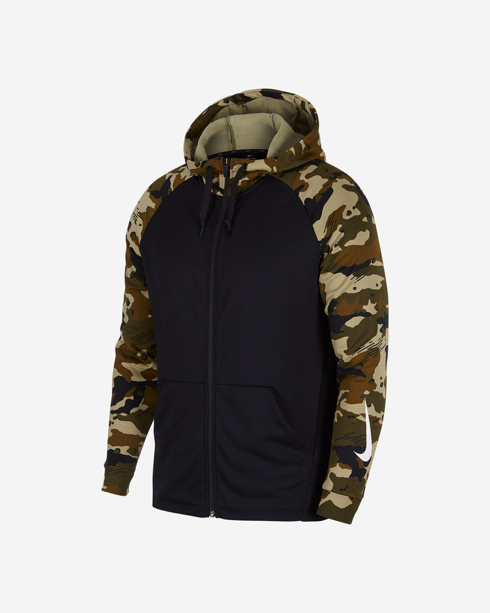 Felpa training NIKE DRI FIT CAMOUFLAGE HOODIE M S4046058 scatto 0