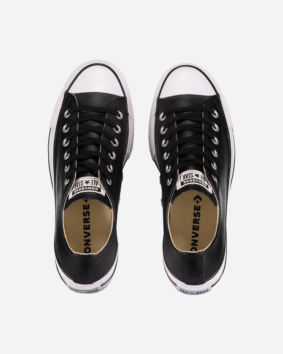 Scarpe sneakers CONVERSE ALL STAR PLATFORM LEATHER OX W S4051914 scatto 3