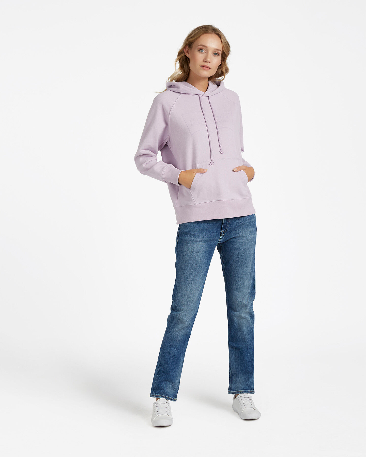 Felpa LEVI'S LOGO OUTLINE BATWING W S4083507 scatto 1