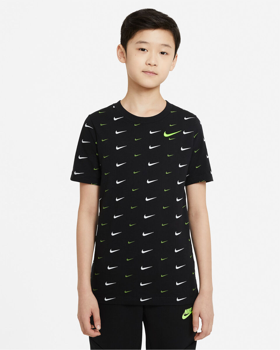 T-Shirt NIKE AOP SWOOSH JR S5270259 scatto 0