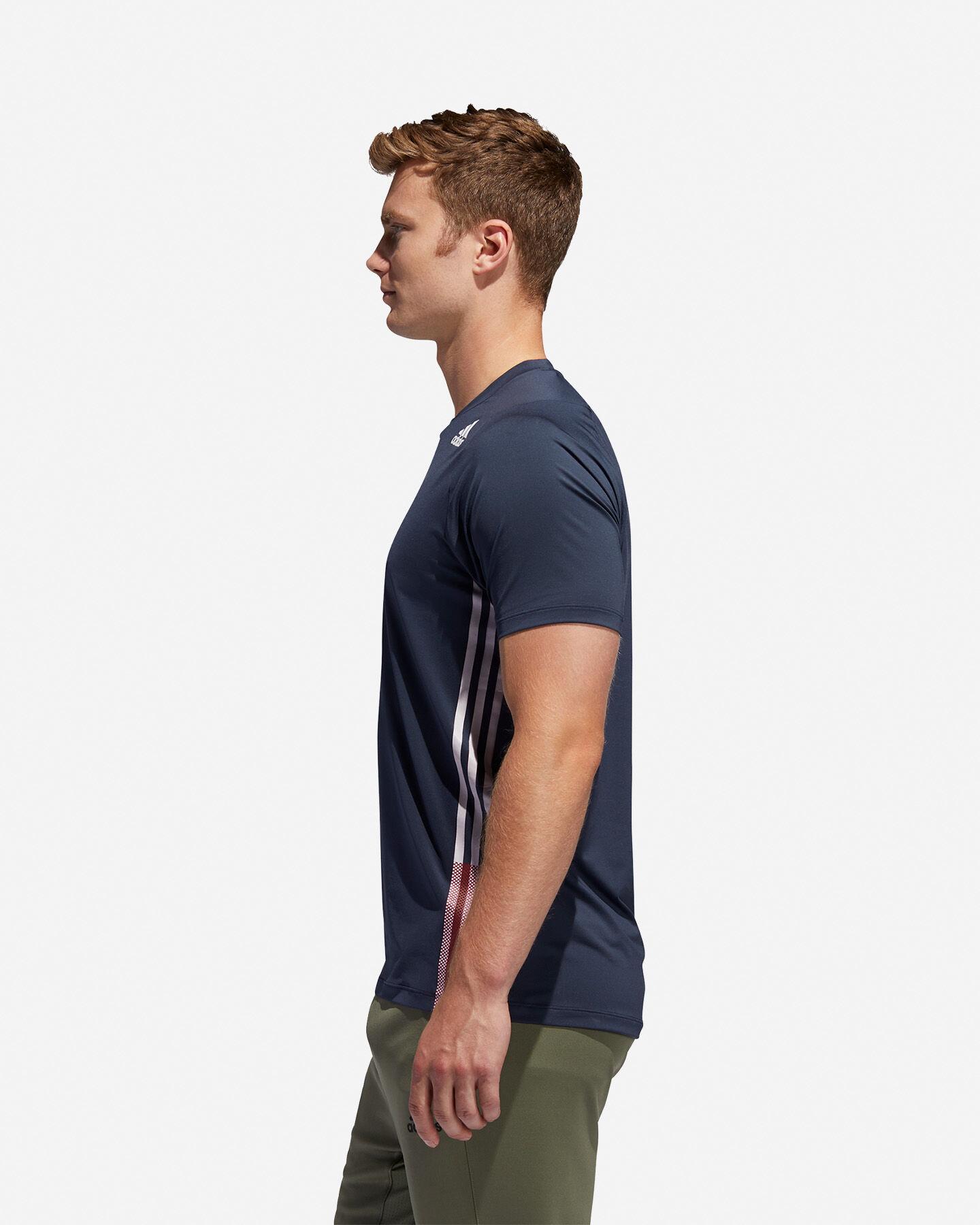 T-Shirt training ADIDAS FREELIFT 3-STRIPES M S5154666 scatto 3