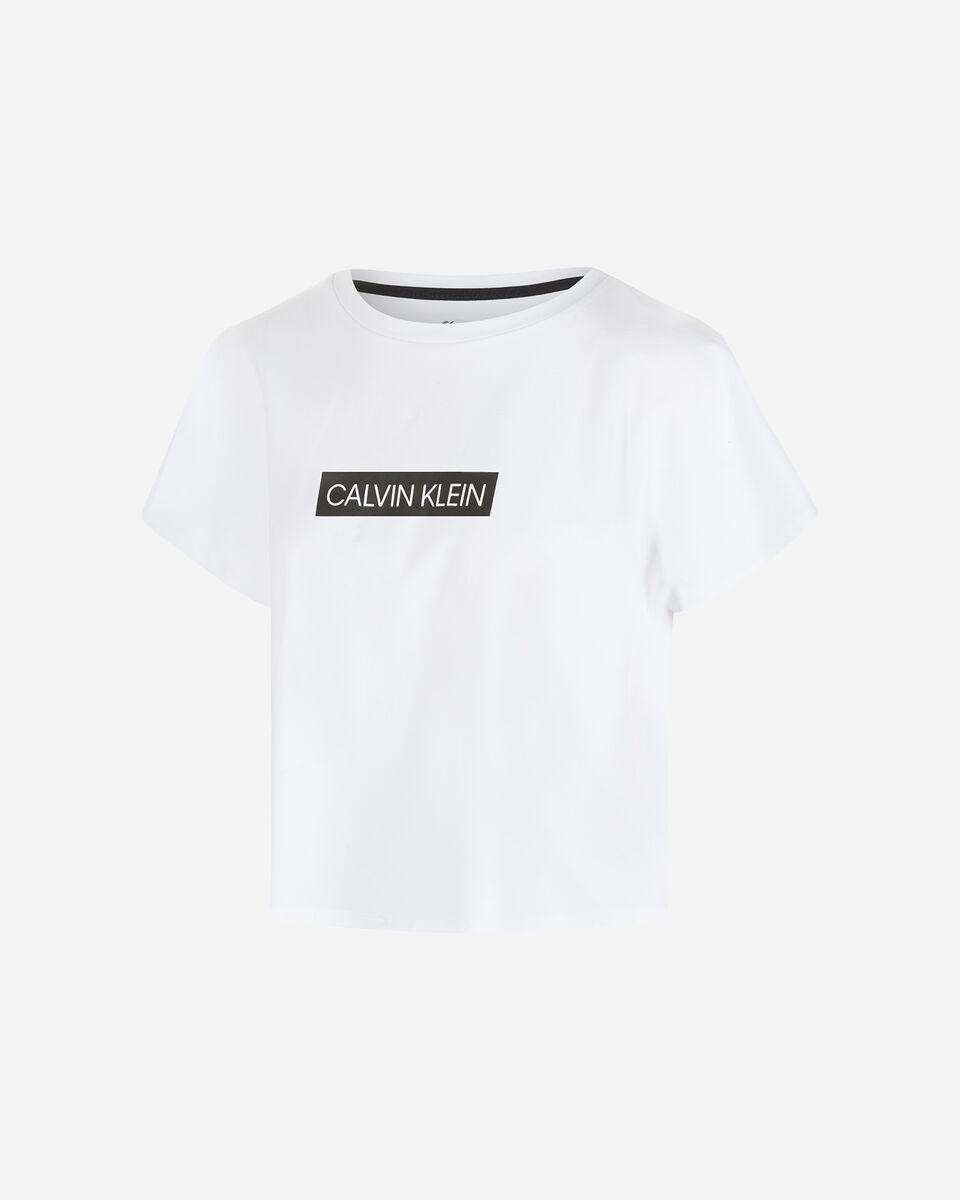 T-Shirt CALVIN KLEIN MC LARGE LOGO W S4079694 scatto 0