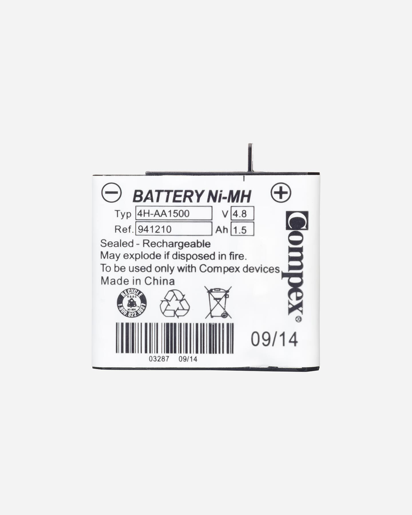 Accessorio elettrostimolatore COMPEX BATTERIA NEW S0644244 9999 UNI scatto 1
