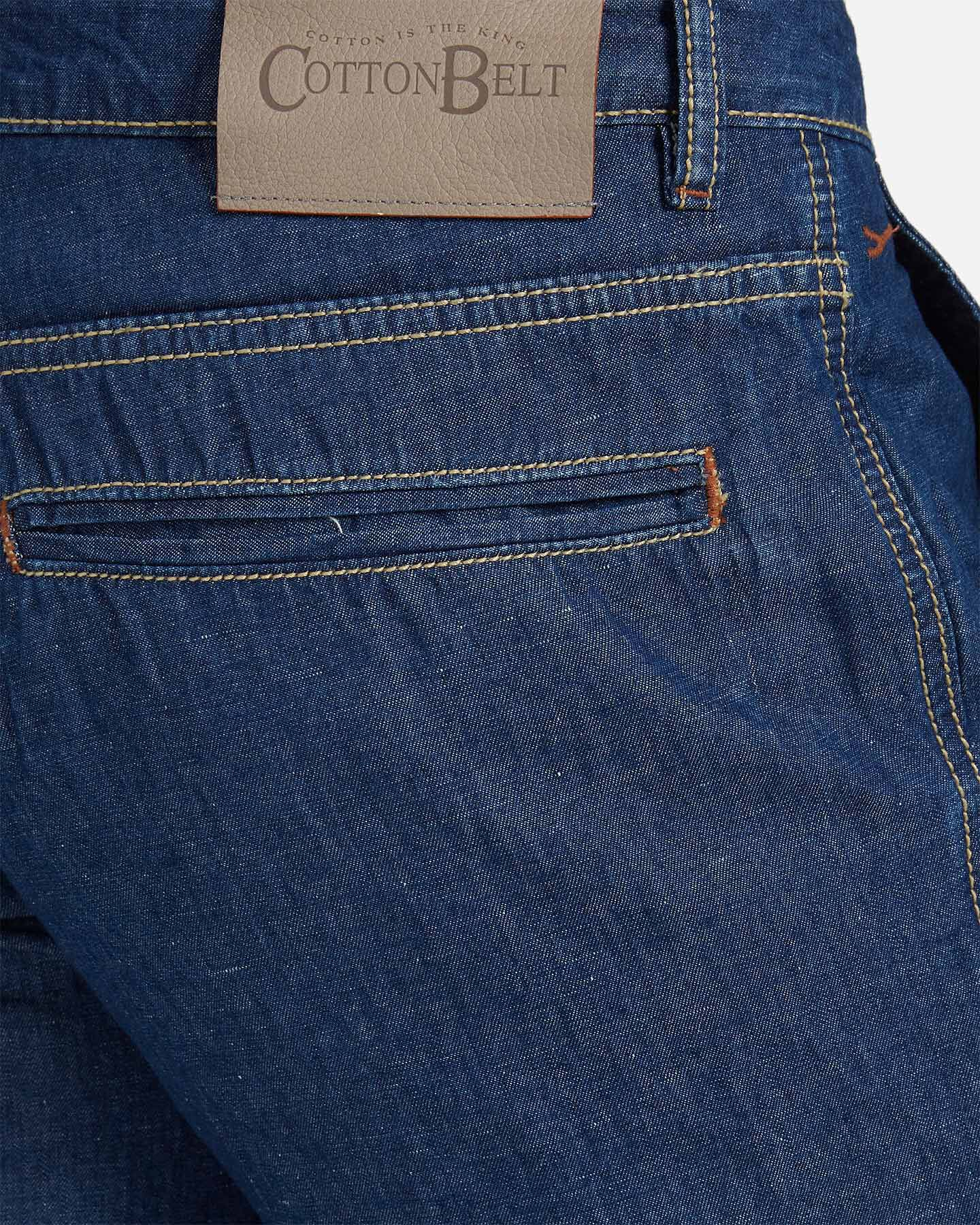 Bermuda COTTON BELT CHINO LINEN M S4076647 scatto 3