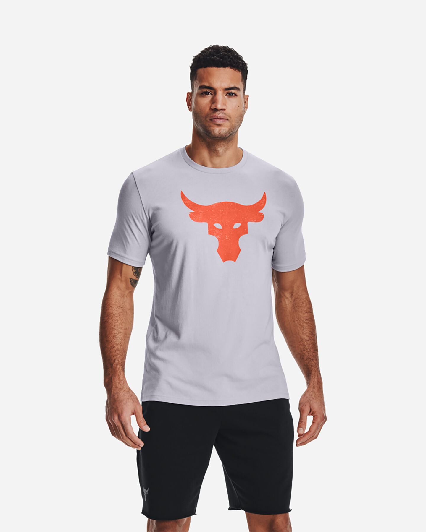 T-Shirt UNDER ARMOUR THE ROCK BULL LOGO M S5300568 scatto 2