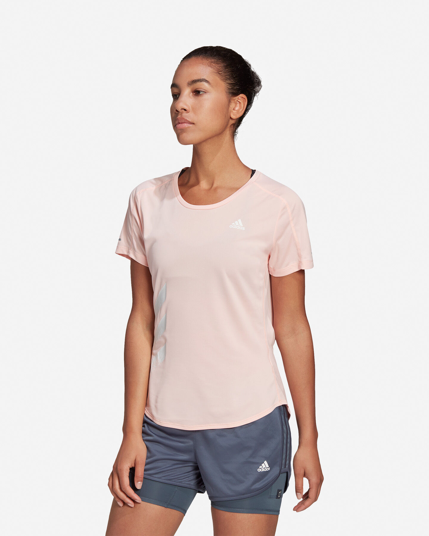 T-Shirt running ADIDAS RUN IT 3 STRIPES W S5210001 scatto 2