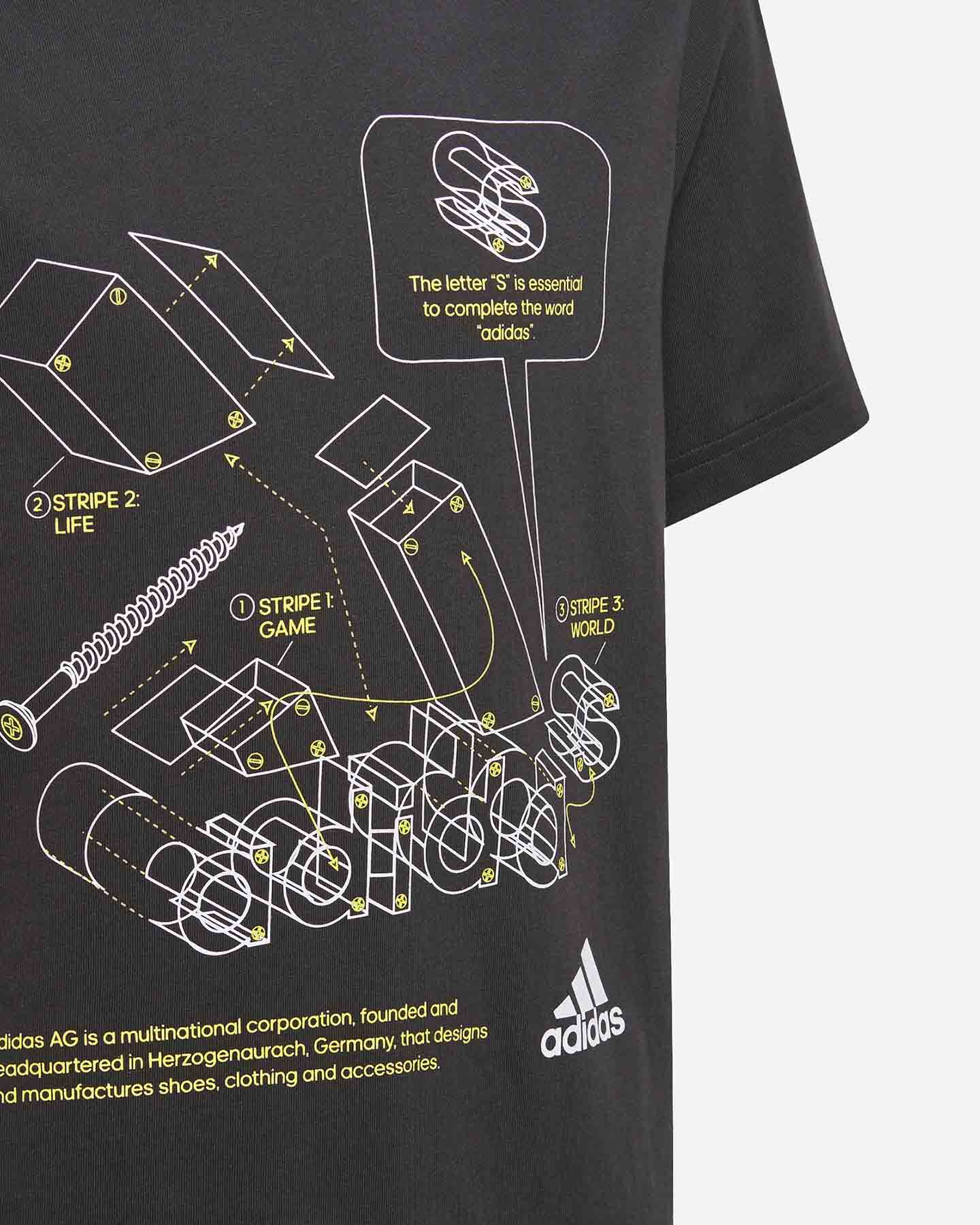 T-Shirt ADIDAS GRAPHIC JR S5273761 scatto 3
