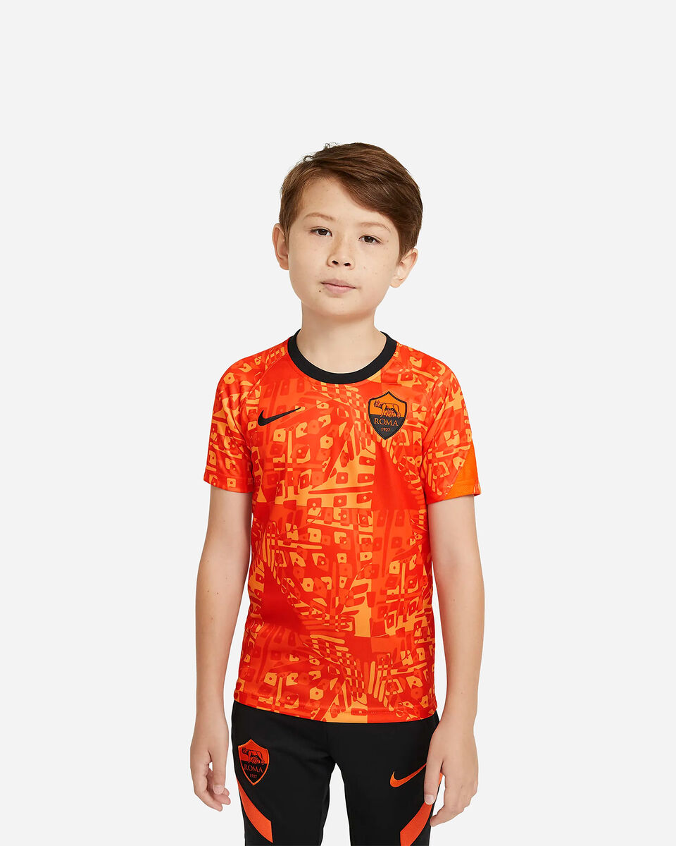 Abbigliamento calcio NIKE ROMA PRE MATCH 20-21 JR S5225158 scatto 0