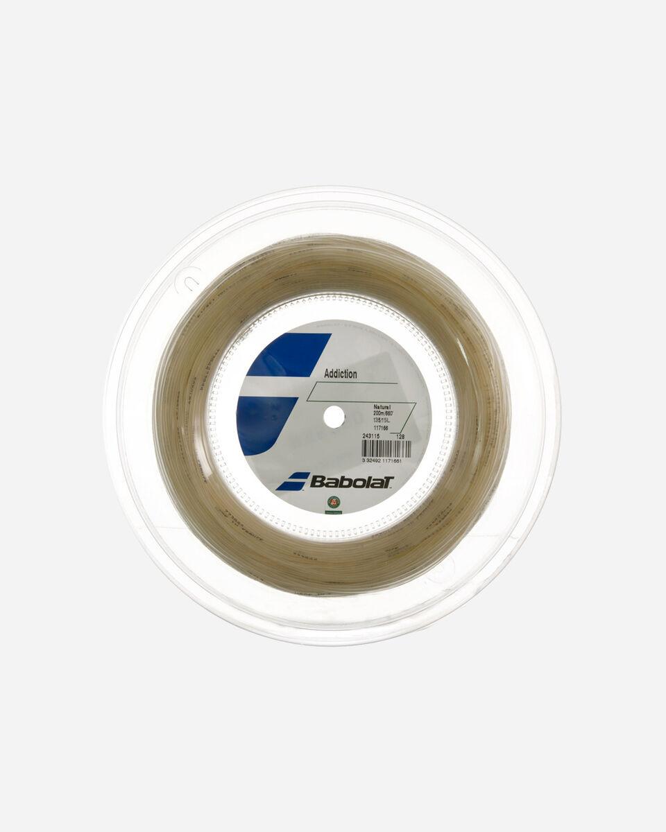 Corde tennis BABOLAT 200 MT ADDICTION NATURAL S1150751 scatto 0