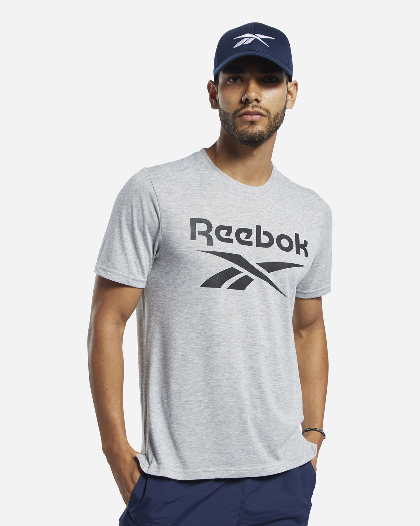 T-Shirt training REEBOK WORKOUT GRAPHIC M S5213779 scatto 2