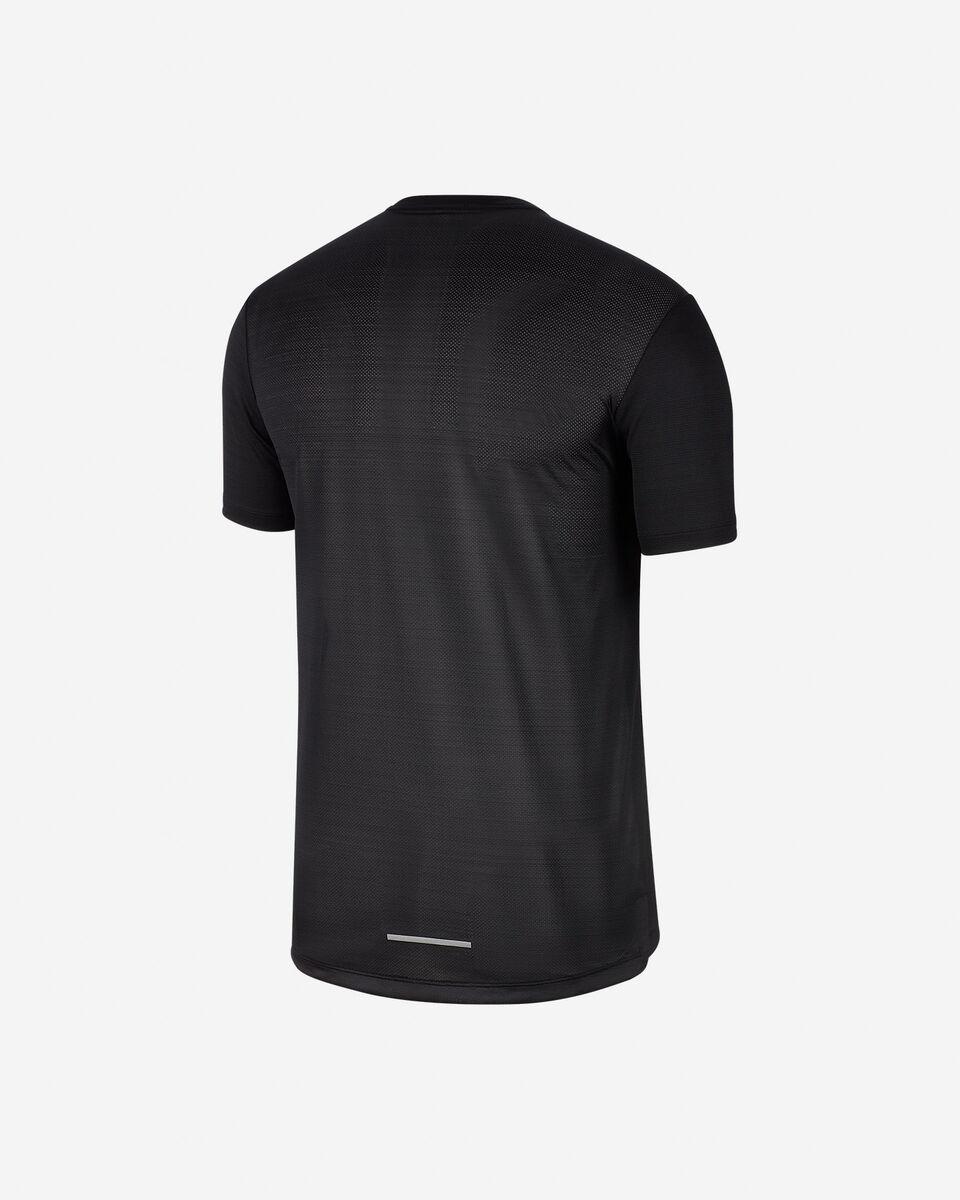 T-Shirt running NIKE DRI-FIT MILER M S5164396 scatto 1