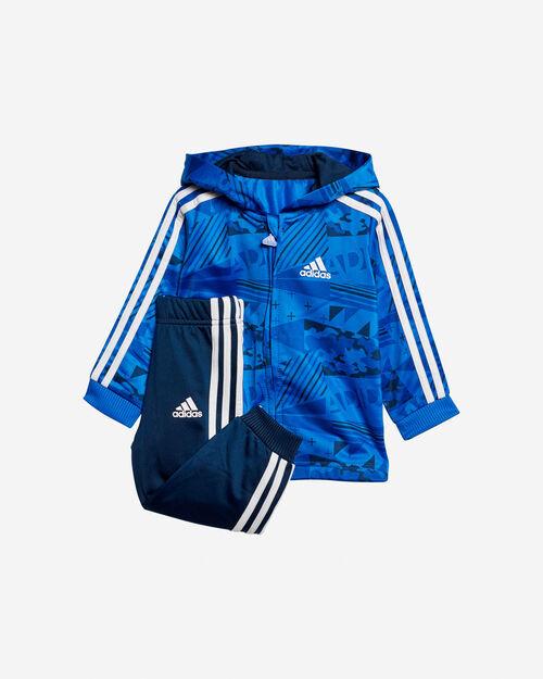 Adidas Shiny Full Zip Hooded Jogger Jr CF7394  bc435dd9963e