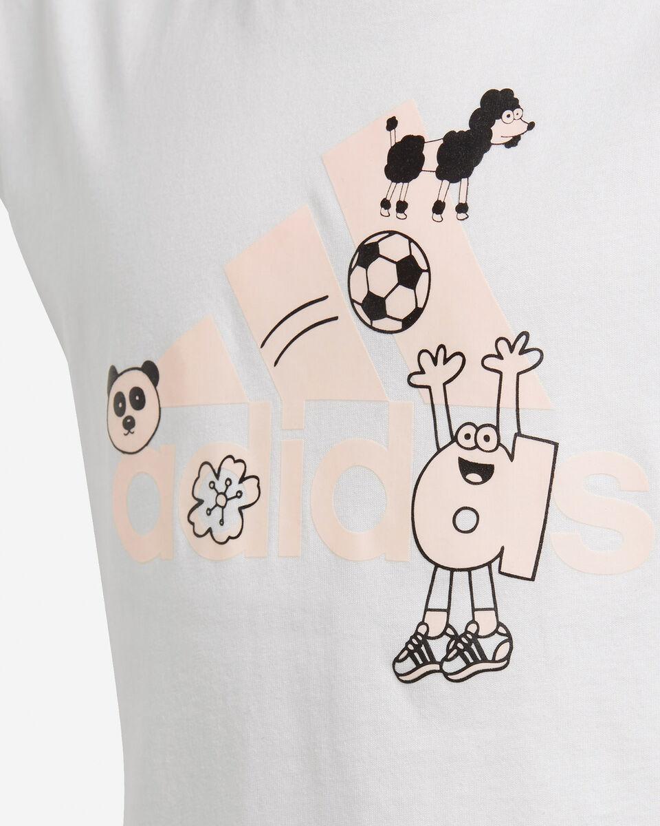 T-Shirt ADIDAS B-LOG JR S5212153 scatto 3