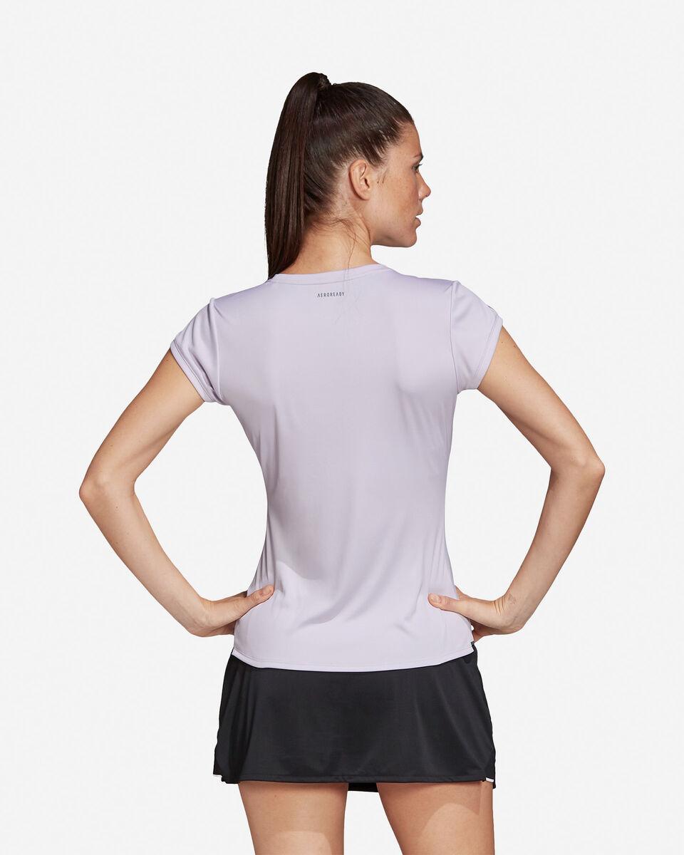 T-Shirt tennis ADIDAS 3-STRIPES CLUB W S5155173 scatto 4