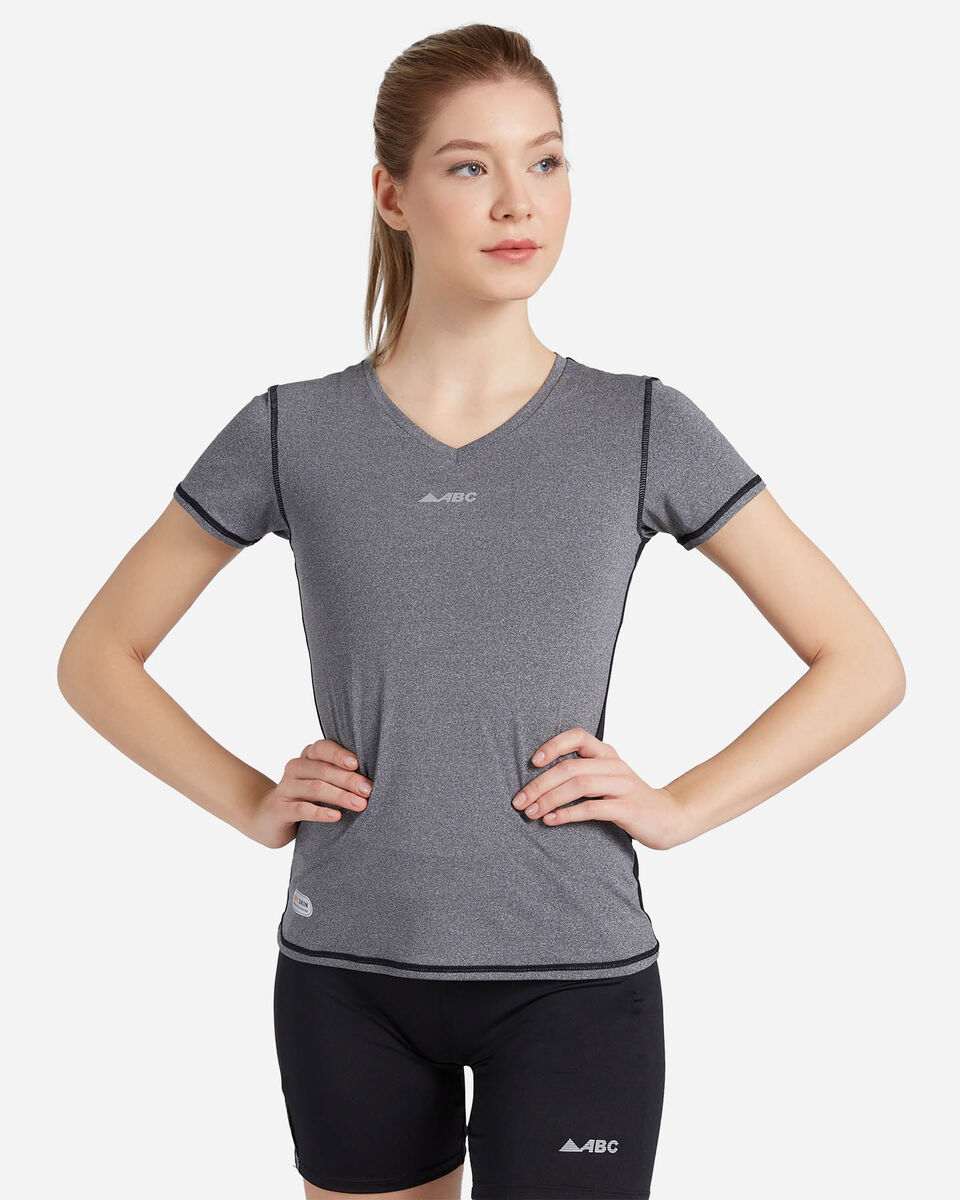 T-Shirt running ABC TECH V NECK W S4088089 scatto 0