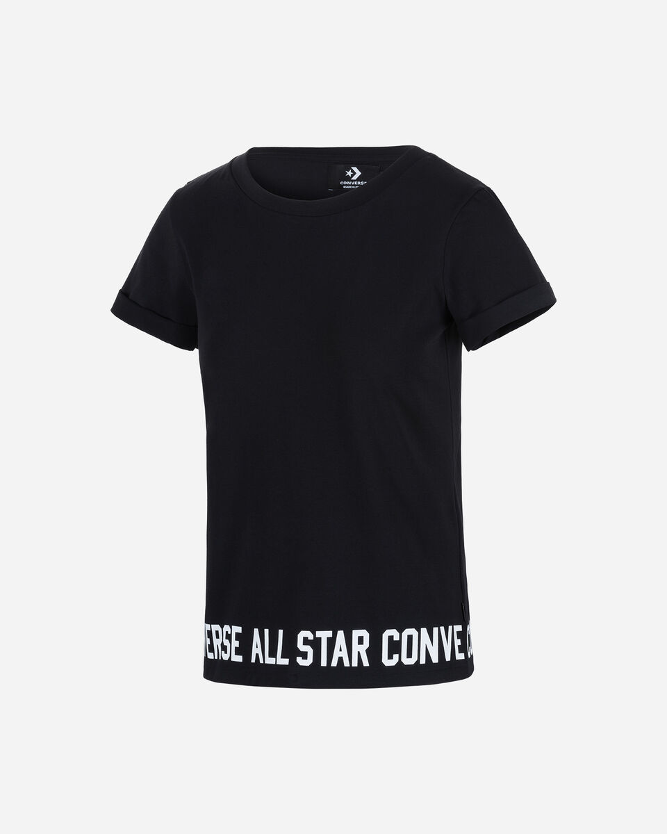 T-Shirt CONVERSE LOGO ROLL UP W S5181170 scatto 0