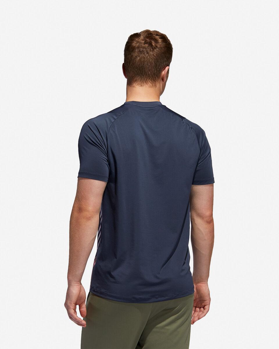 T-Shirt training ADIDAS FREELIFT 3-STRIPES M S5154666 scatto 4