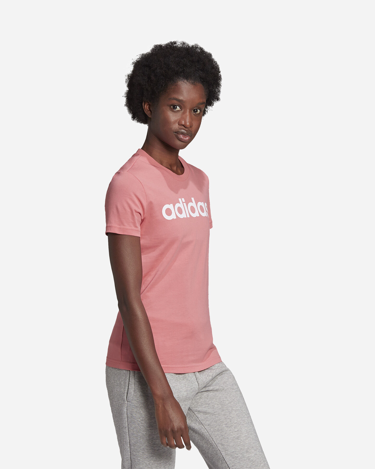 T-Shirt ADIDAS LINEAR W S5273057 scatto 3
