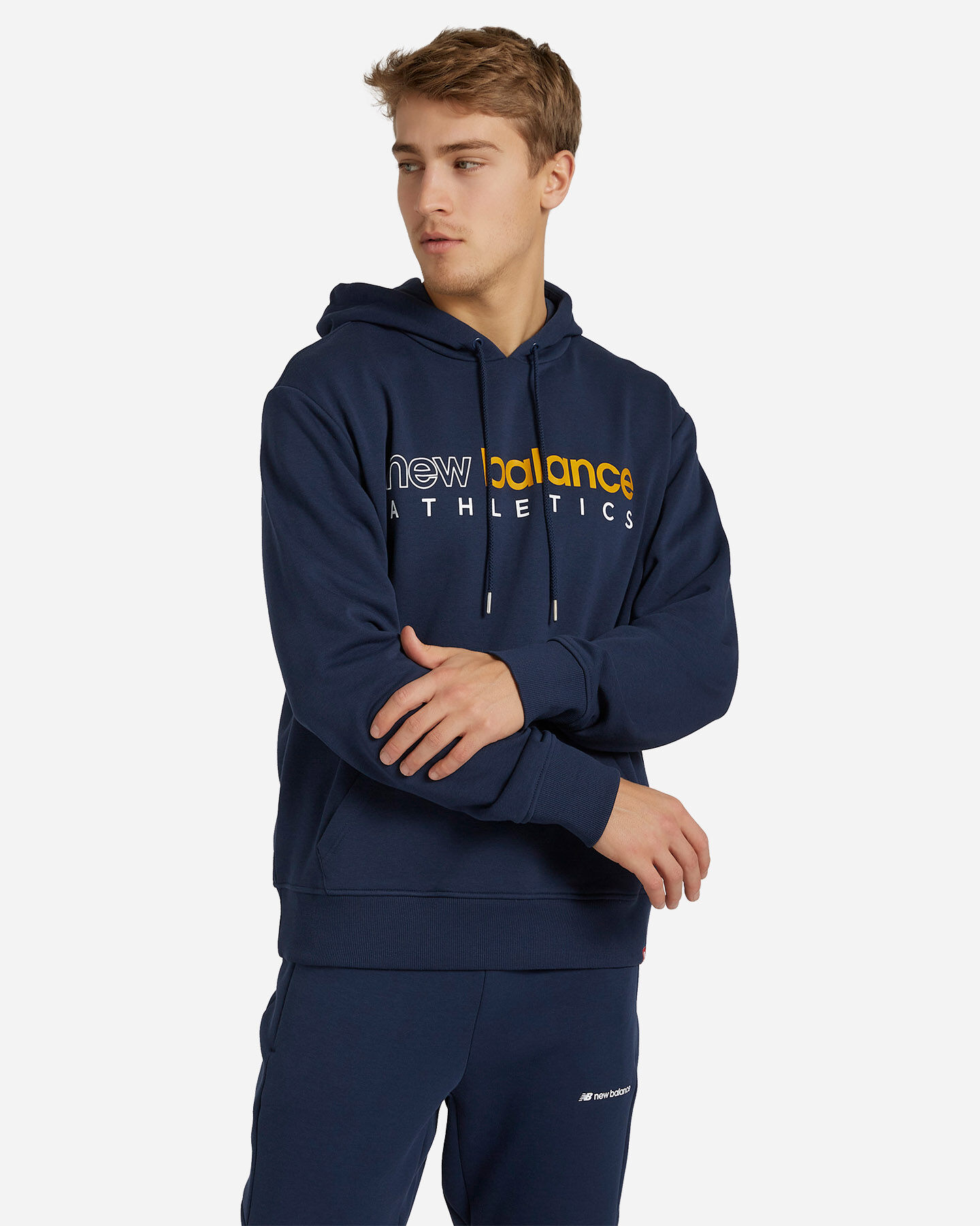 Felpa NEW BALANCE ICON HOODIE M S5166320 scatto 0
