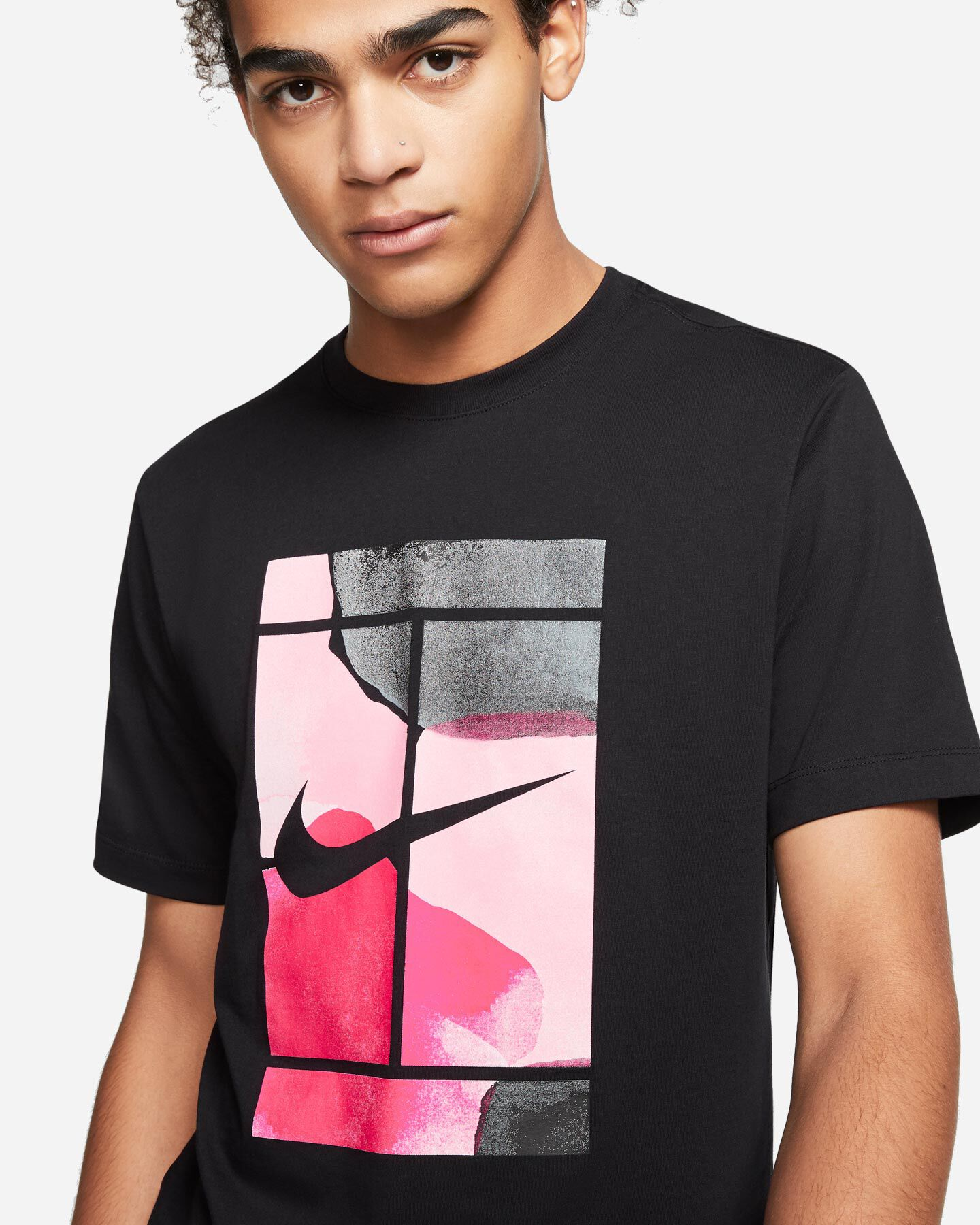 T-Shirt tennis NIKE COURT M S5164888 scatto 2