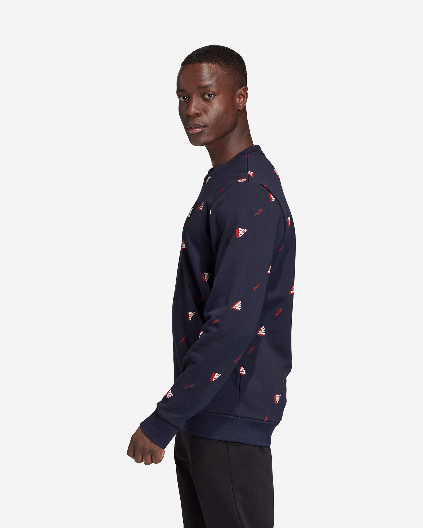 Felpa ADIDAS MUST HAVES GRAPHIC CREW M S5153856 scatto 3