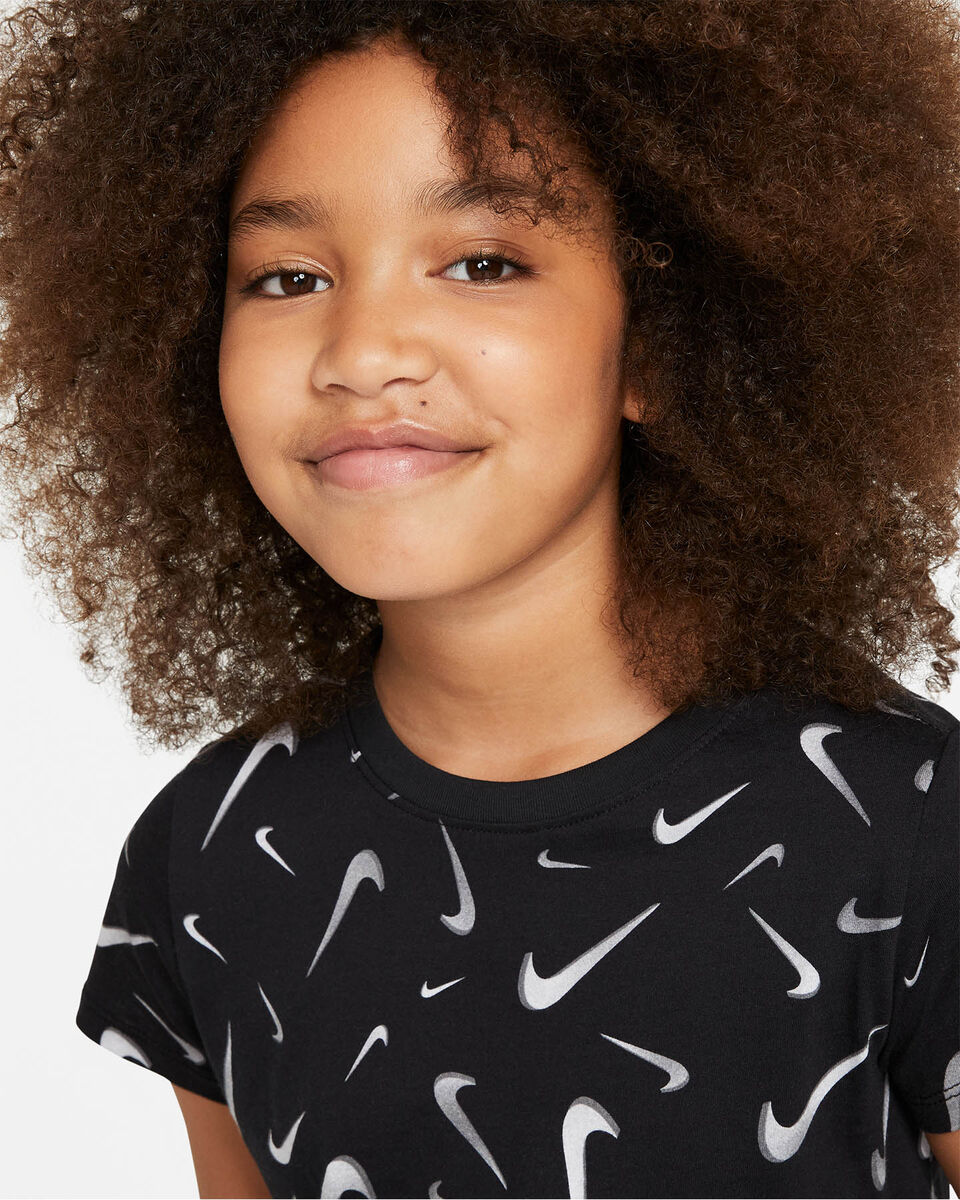 T-Shirt NIKE CROP SWOOSH JR S5270246 scatto 2