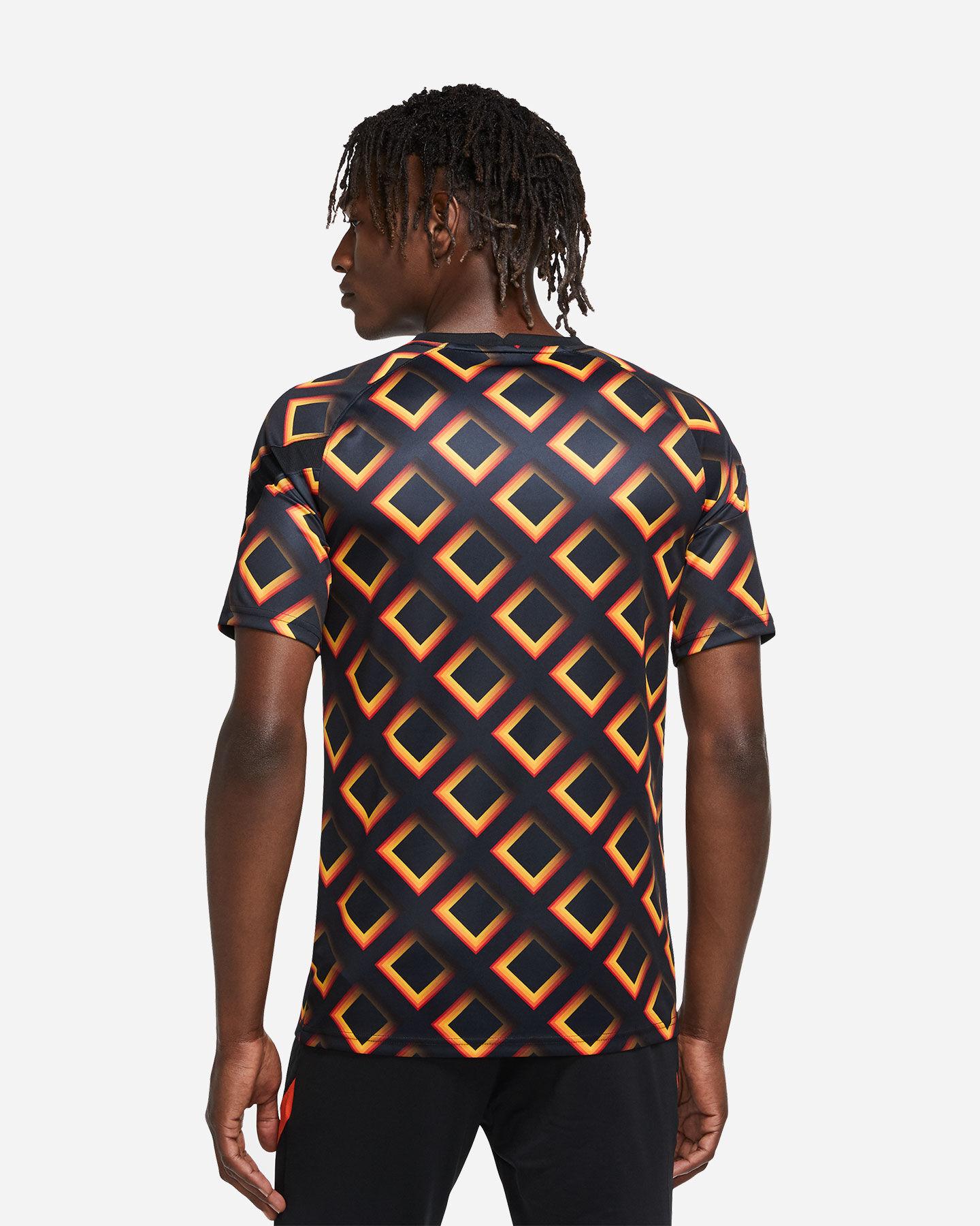 Abbigliamento calcio NIKE AS ROMA PREMATCH 20-21 M S5195542 scatto 3