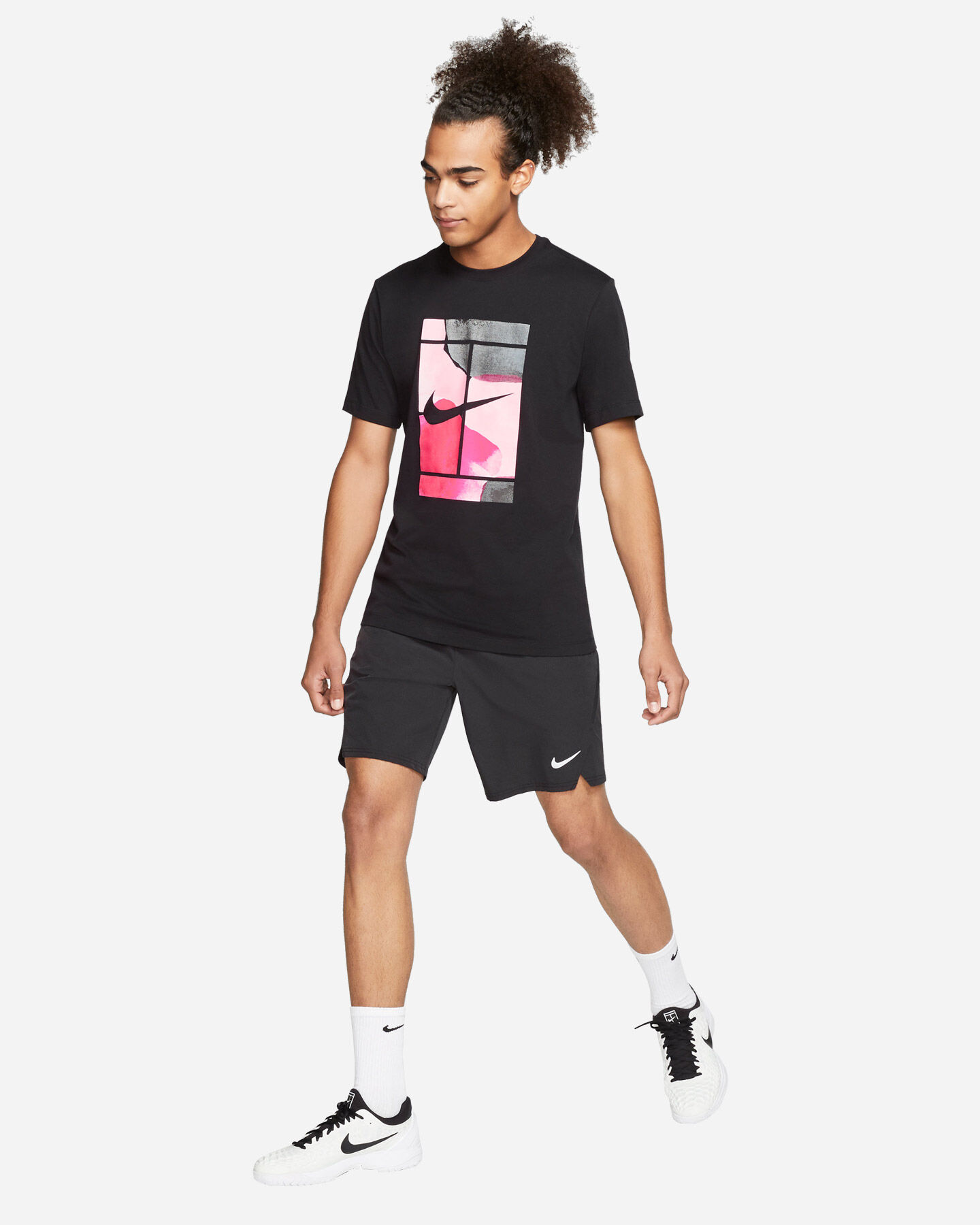 T-Shirt tennis NIKE COURT M S5164888 scatto 3