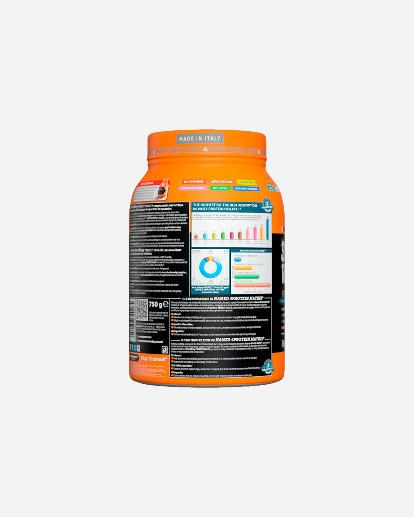 Energetico NAMED SPORT STAR WHEY ISOLATE SUBLIME CHOCOLATE 750G S1308868 1 UNI scatto 2