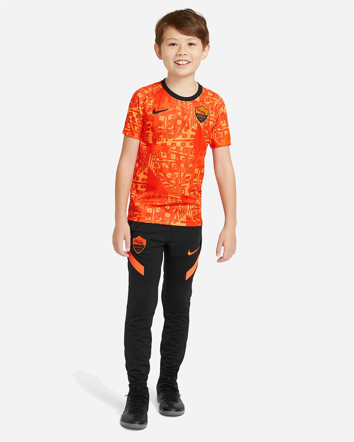 Abbigliamento calcio NIKE ROMA PRE MATCH 20-21 JR S5225158 scatto 4