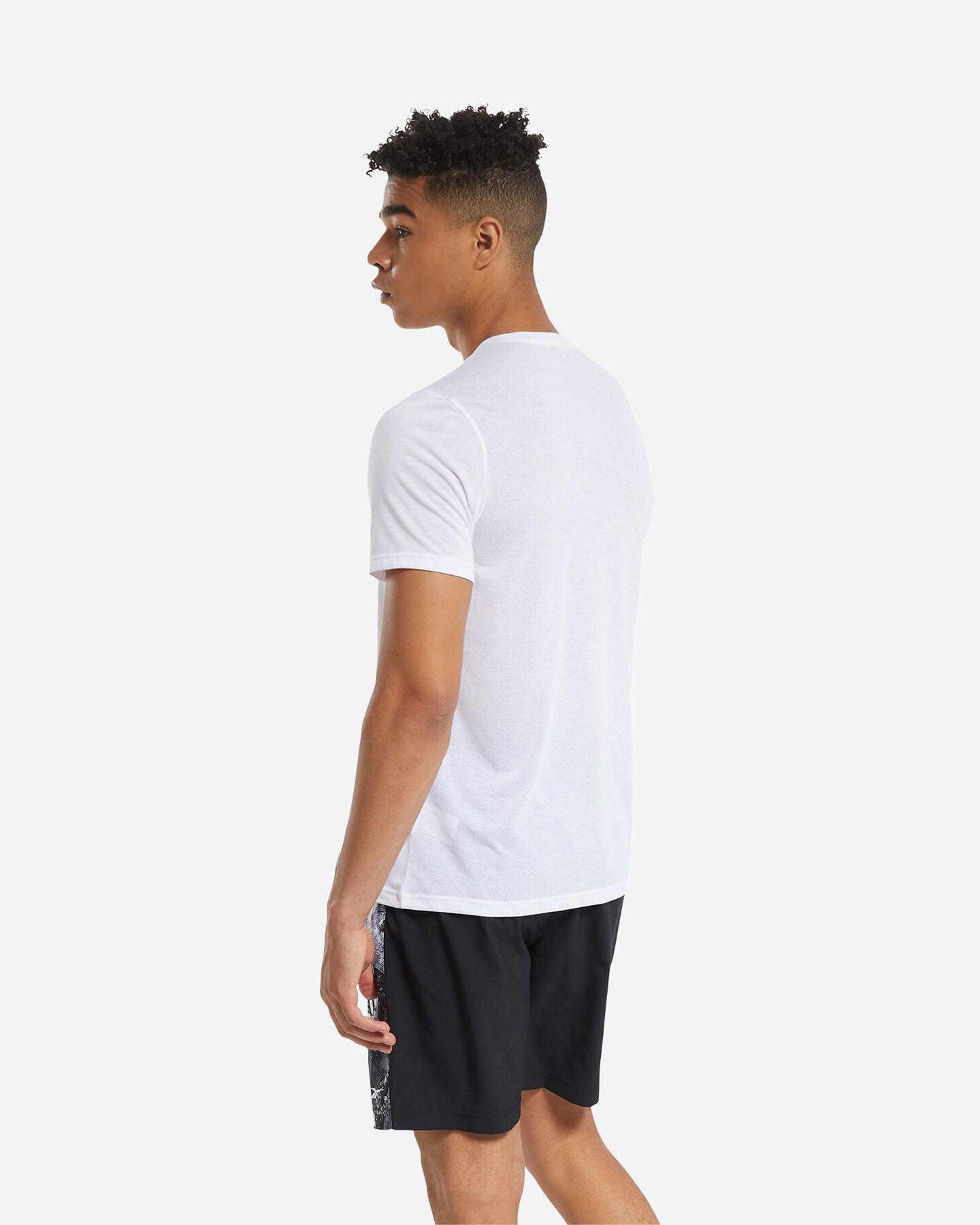 T-Shirt training REEBOK ACTRON LOGO M S5219457 scatto 3