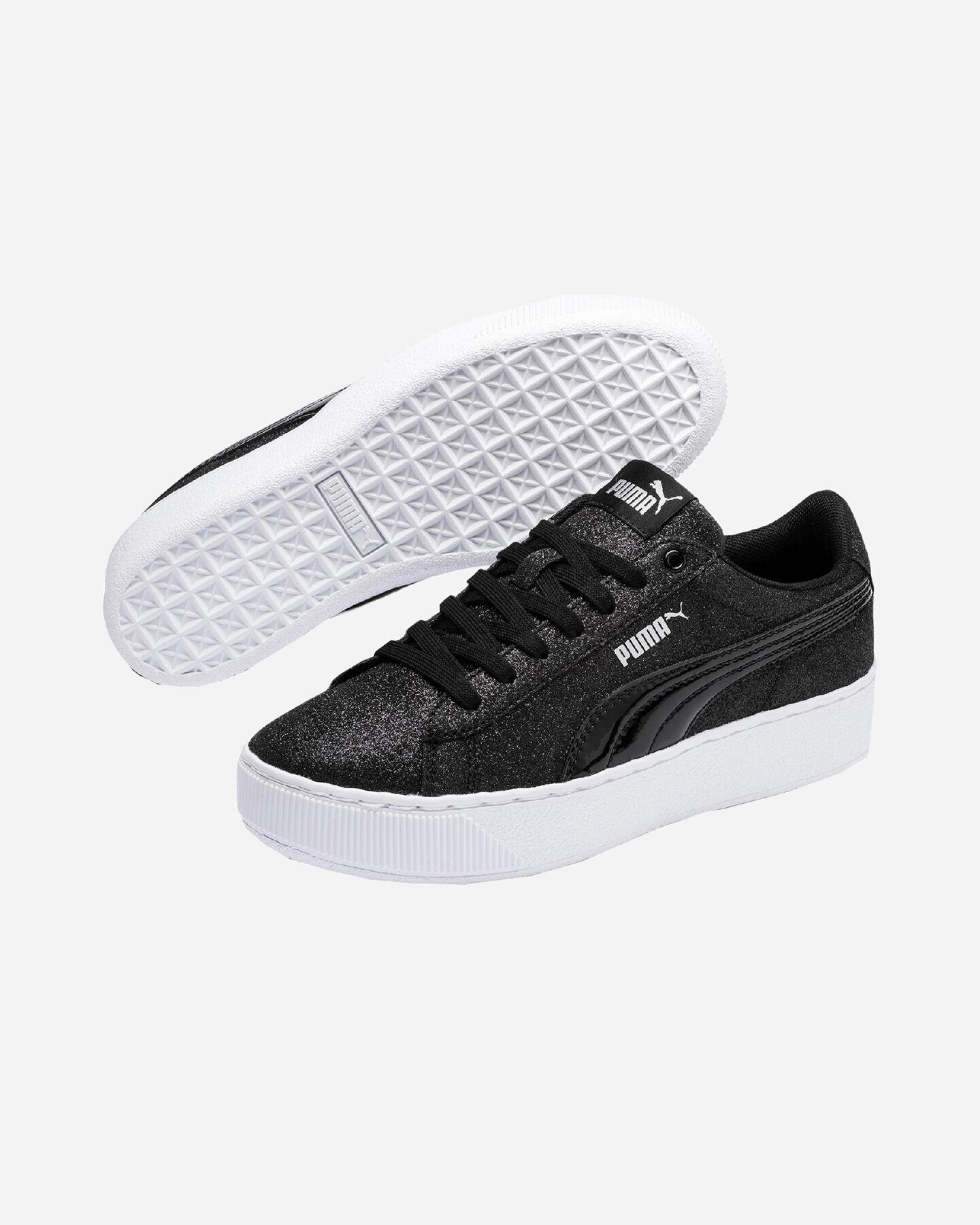 Scarpe sneakers PUMA VIKKY PLATFORM GLITZ JR GS S5087505 scatto 1