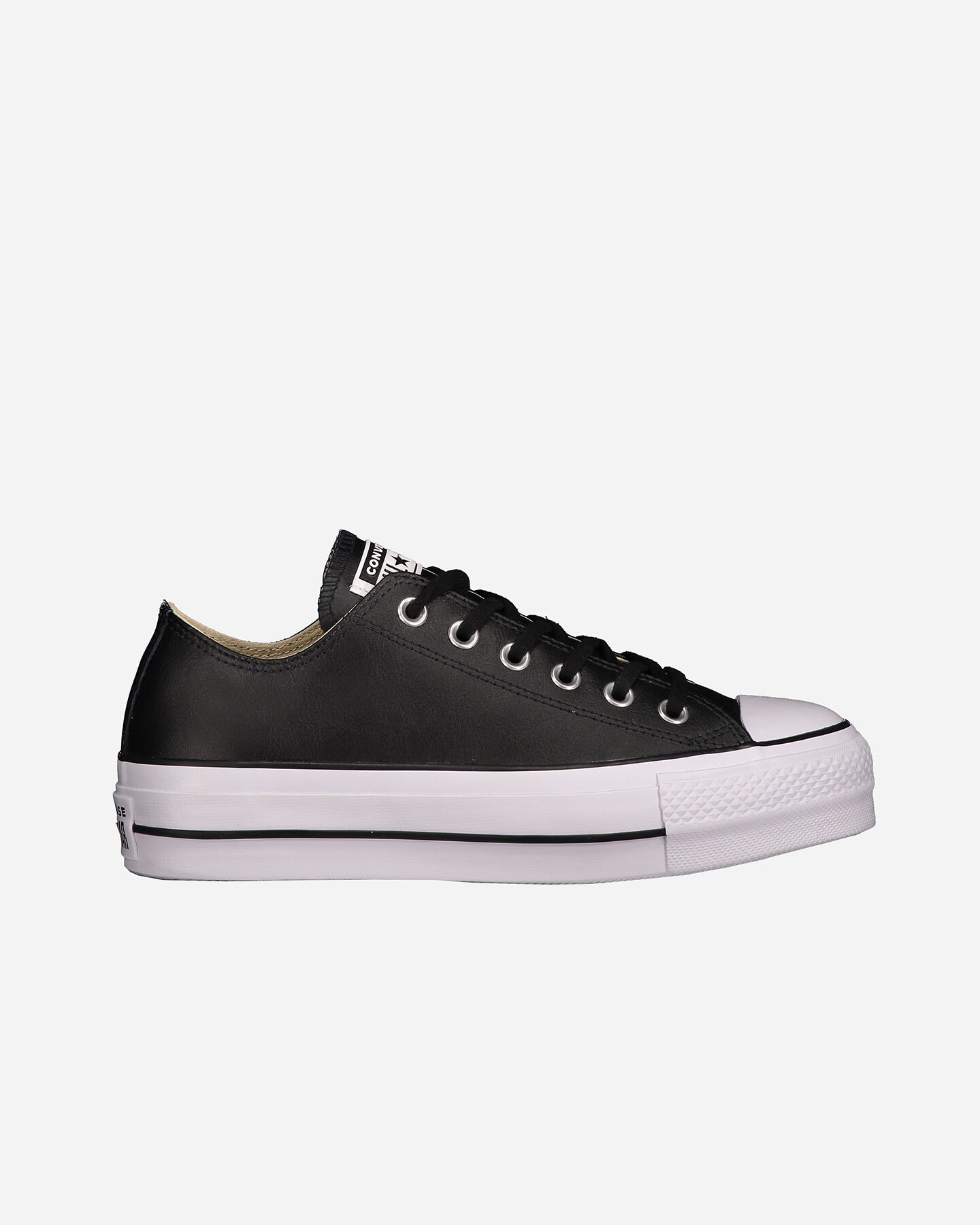 Scarpe sneakers CONVERSE ALL STAR PLATFORM LEATHER OX W S4051914 scatto 0