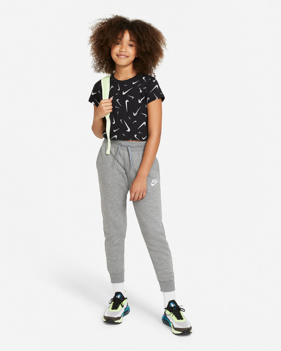 T-Shirt NIKE CROP SWOOSH JR S5270246 scatto 3