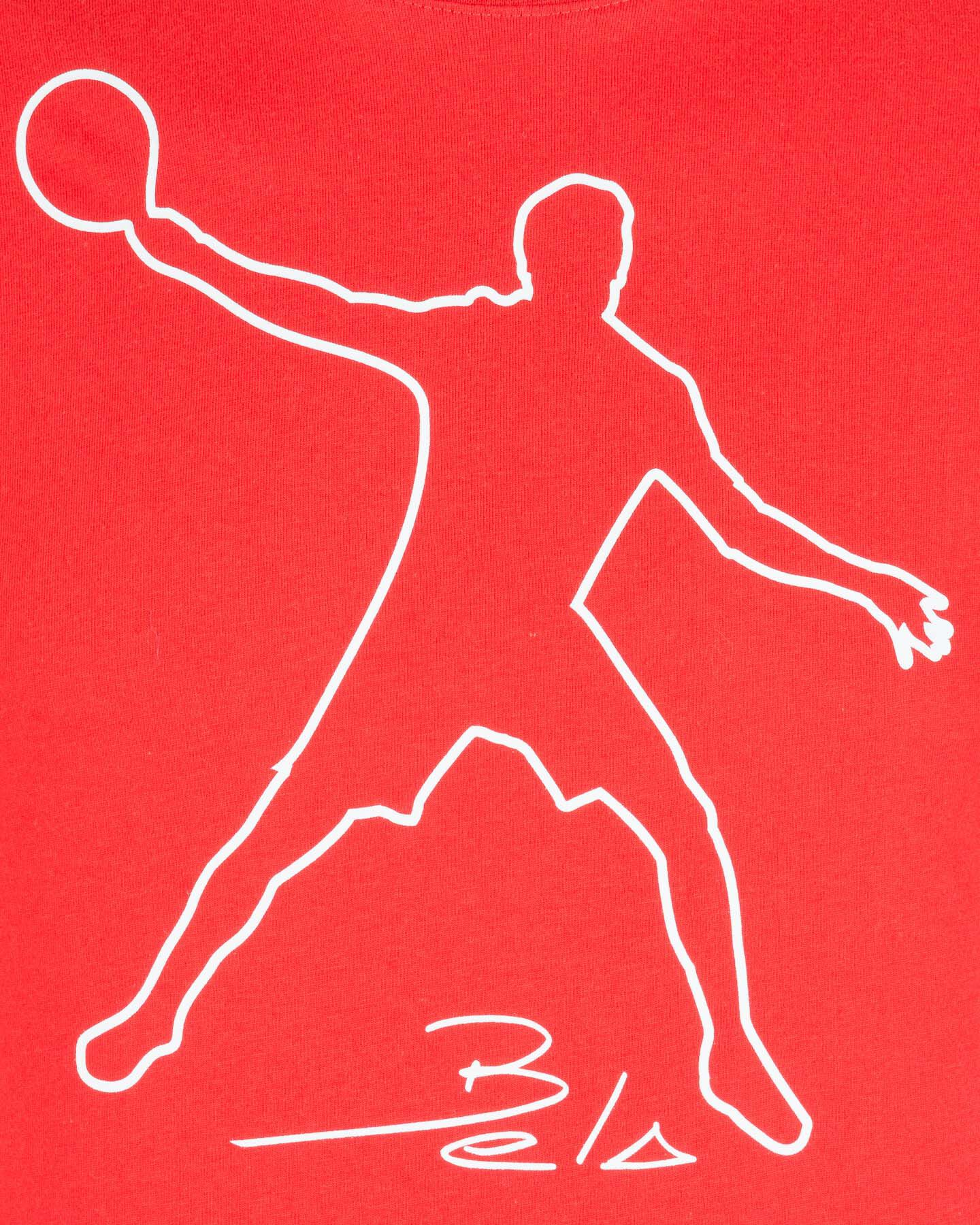 T-Shirt tennis WILSON T-SHIRT WILSON MBELA TECH RED M S5294969 scatto 2