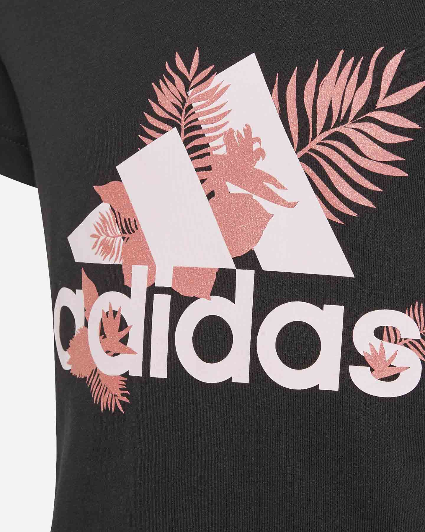 T-Shirt ADIDAS FLOWER JR S5273765 scatto 2
