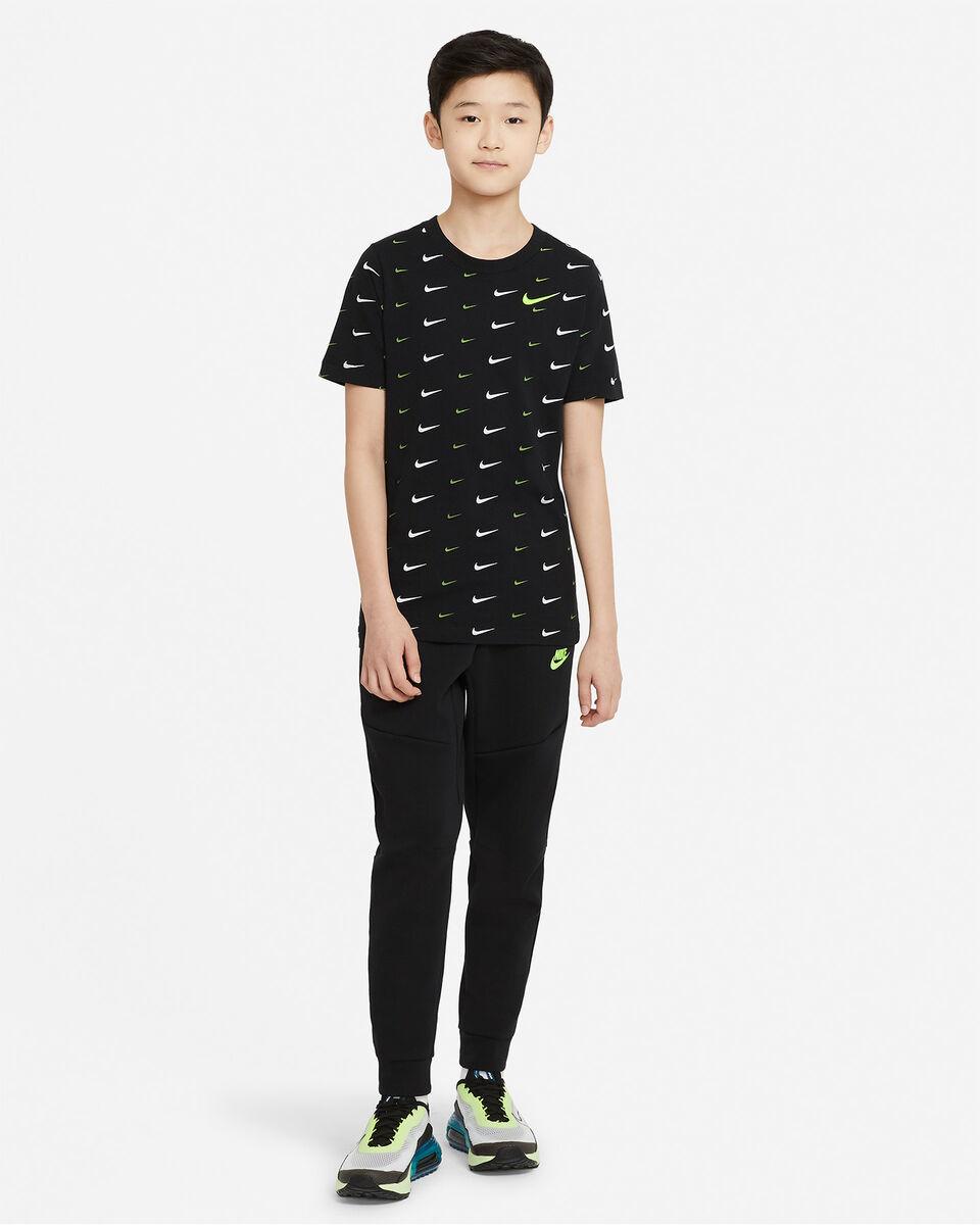 T-Shirt NIKE AOP SWOOSH JR S5270259 scatto 3