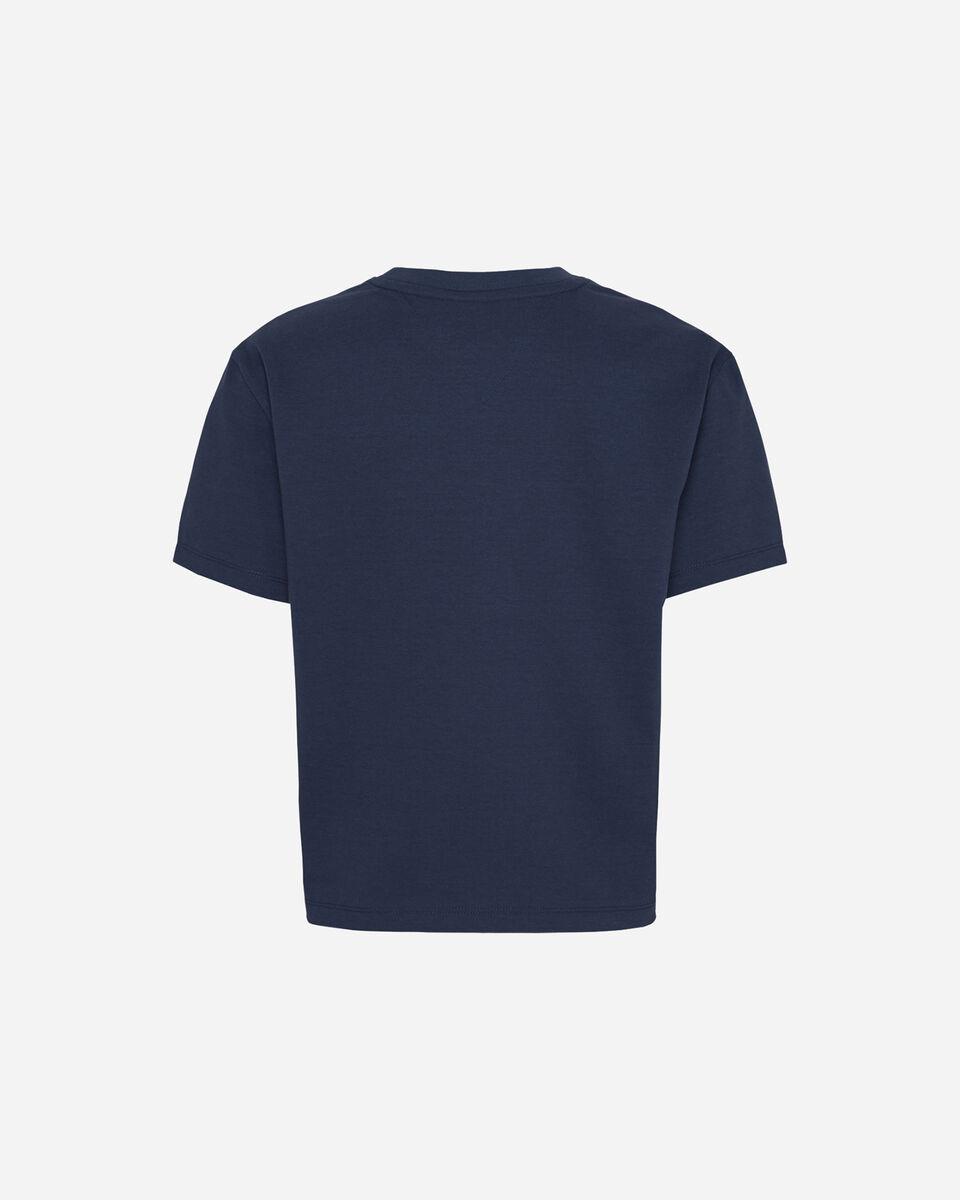 T-Shirt TOMMY HILFIGER CROP LOGO FLAG W S4089041 scatto 1