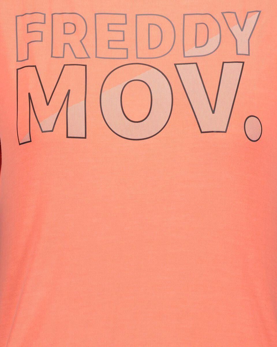 T-Shirt training FREDDY BIG LOGO MOV W S5183530 scatto 2